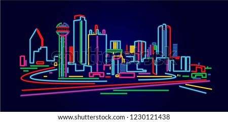 Dallas Texas skyline stock photo