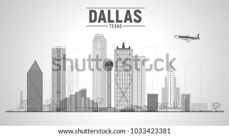 dallas texas us city skyline