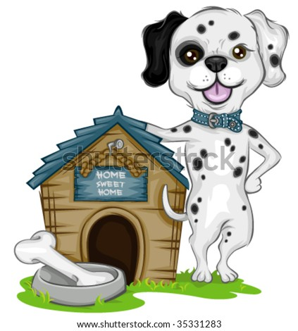 Dalmatian Dog House - Vector