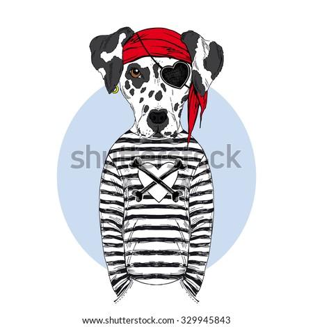 dalmatian doggy pirate