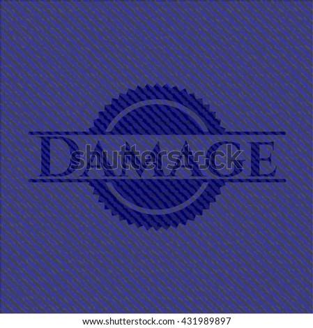 Damage emblem with jean texture