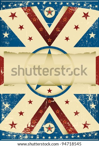 Damaged flag background. A grunge poster with a grunge background for your advertising.