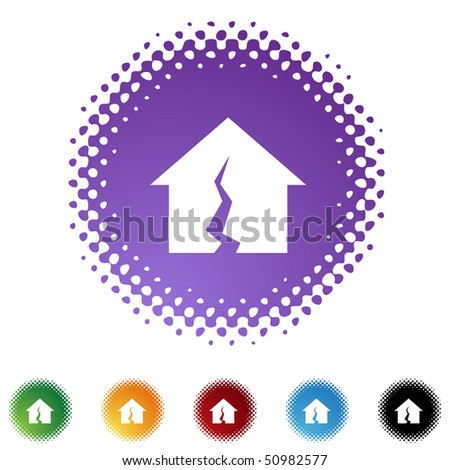 Damaged Home - stock vector