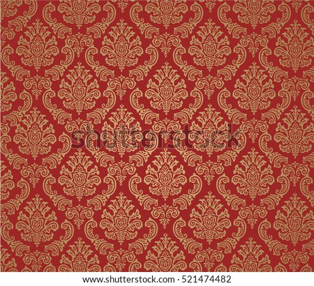damask background red  vector