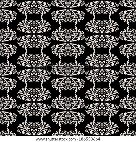 Damask beautiful background with rich, luxury ornamentation, black and white fashioned seamless pattern, elegant, royal vector wallpaper, floral wrapping paper, swatch fabric for decoration, design