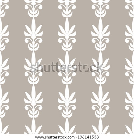 Damask beautiful background with simple, antique style ornament for decoration and design