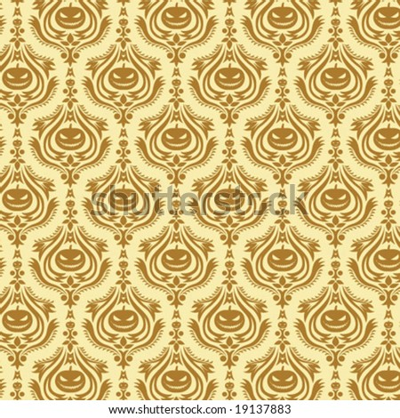 damask decorative halloween wallpaper