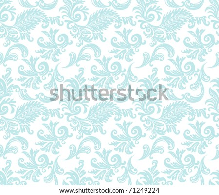 Damask pattern - stock vector