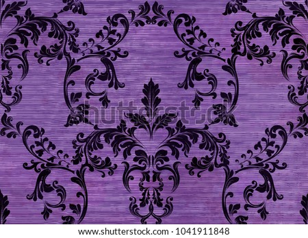 damask pattern ornament decor