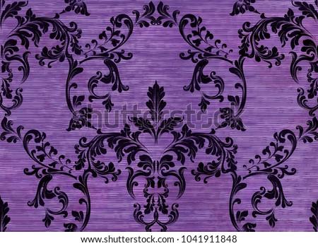 damask pattern ornament decor