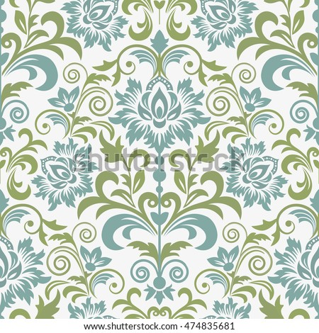 damask seamless floral