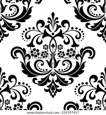 Black And White Flower Print Background Flowers on a Black And White