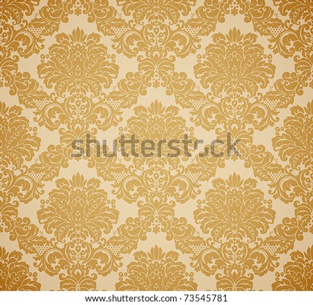 Damask seamless floral pattern. Vintage vector illustration.