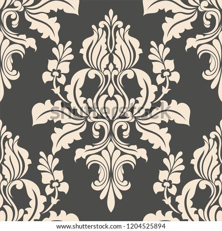 Damask seamless pattern. element. classical luxury old fashioned victorian texture floral, wallpapers, textile, wrapping vector background.