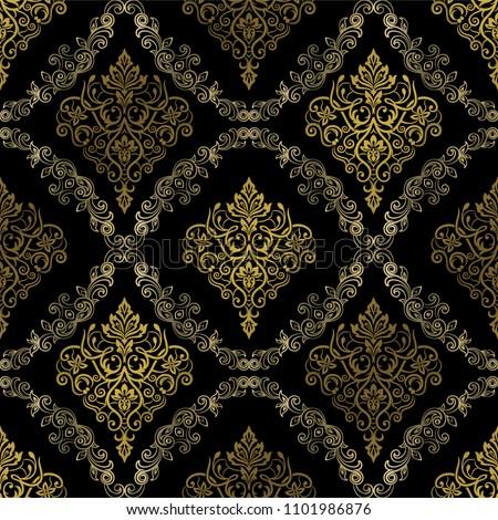 damask seamless pattern for