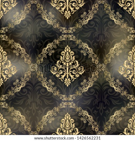 Damask seamless pattern for design. Vector Illustration