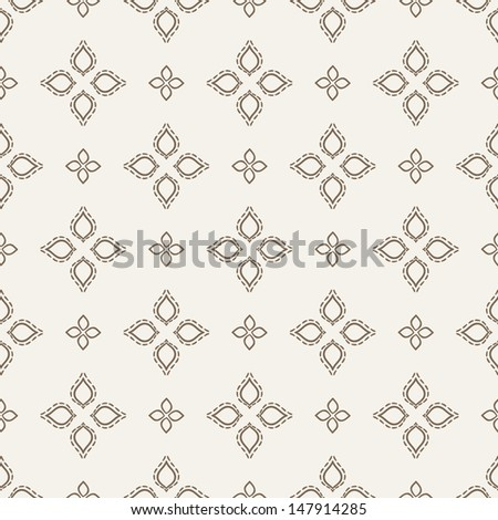 Damask seamless pattern symmetrical texture beautiful template for
