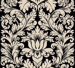 Damask seamless silk