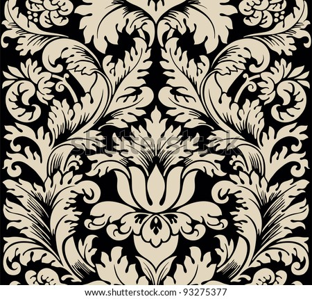 Damask seamless silk