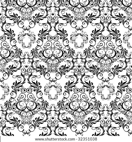 damask wallpaper. vector : damask wallpaper