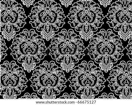 Damask wallpaper seamless pattern
