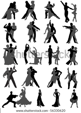 dance - stock vector