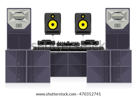 Dance Club Sound System Vector Set