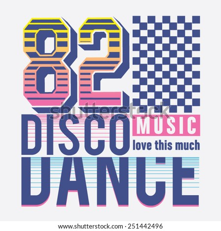 dance disco music typography  t