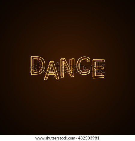 dance neon sign vector