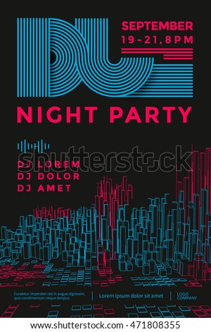 dance night party design poster