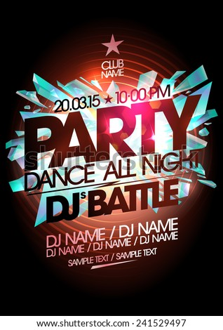 dance party  dj battle design