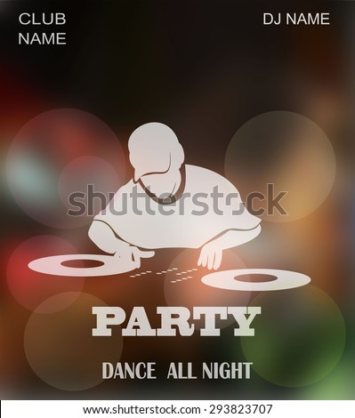 Dance party, dj battle design with place for text.