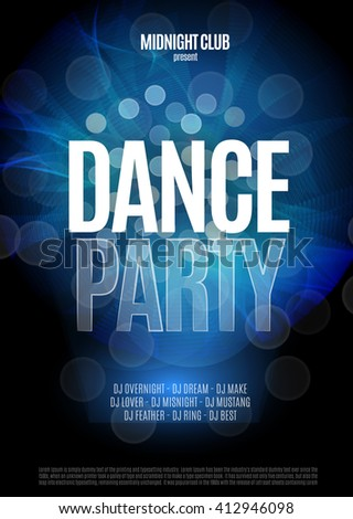 dance party night poster