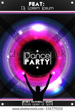 ShutterStock Dance Party Poster Background Template Vector