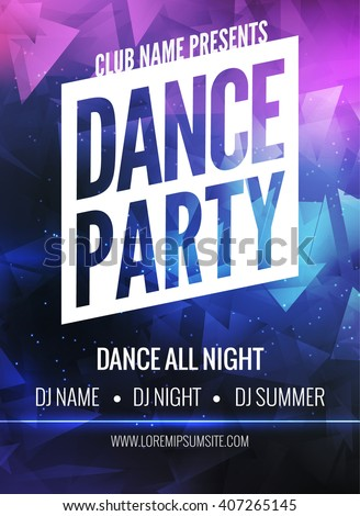 royalty free dance party poster template night 466501841 stock