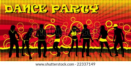 Dance party ticket red