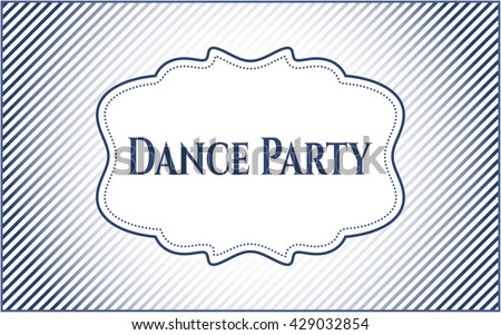 Dance Party vintage style card or poster