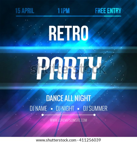 dance retro party poster