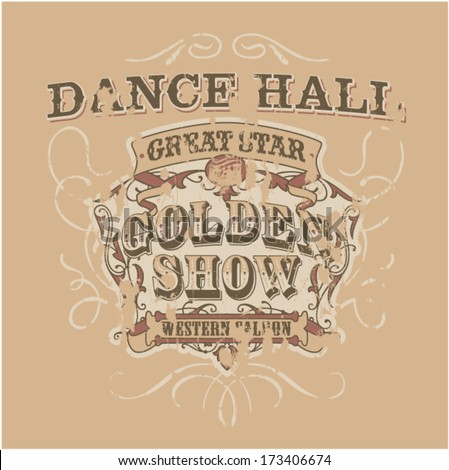 Dance saloon vector artwork for girls and women wear in custom colors grunge effect in separate layer