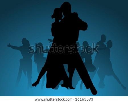 Dance vector background