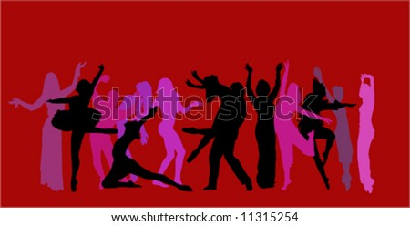 dancer background vector