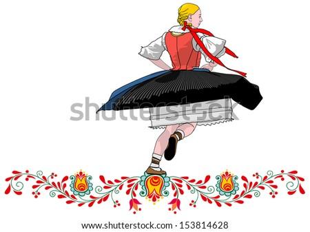 dancer folklore czech