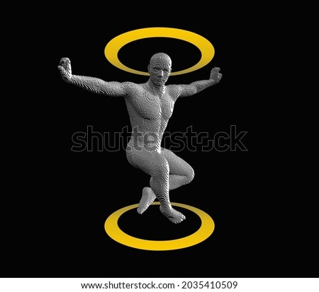 dancer in mid air with arms out