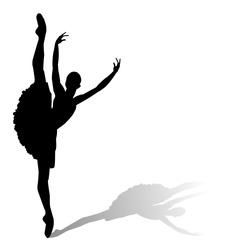 dancer silhouette, ballerina