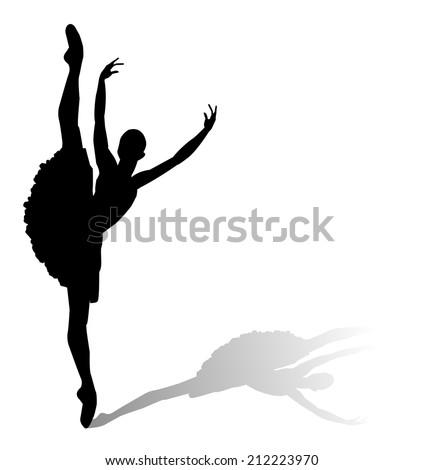dancer silhouette  ballerina