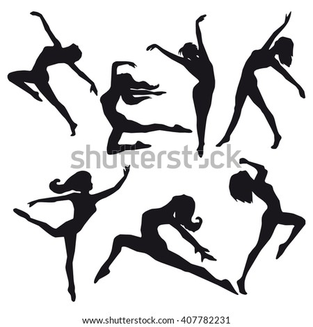dancer silhouette vector images