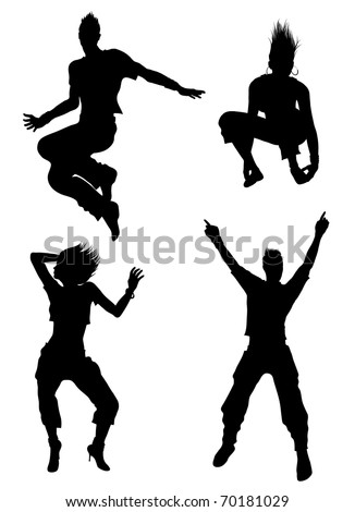dancer  silhouettes (also available jpg version)