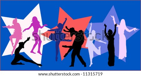 dancer vector background