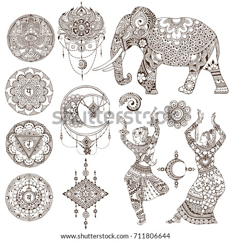 dancers  elephant  mandalas