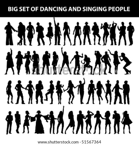 dancing and singing people's